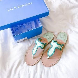 Jack Rogers Jackie Sandal Mint - New in Box